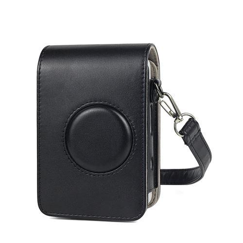 Étui en cuir PU antichoc pour Fujifilm Instax Mini Liplay - Noir
