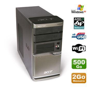 Pc acer veriton m420 athlon x2 4850b ram 2go disque 500go dvd wifi