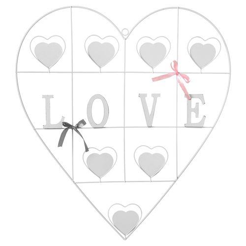 Pêle-mêle cœur Modern Love - Blanc