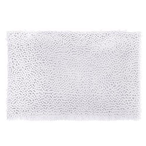 Tapis de Salle De Bain Maxi Chenille 50x80cm Blanc