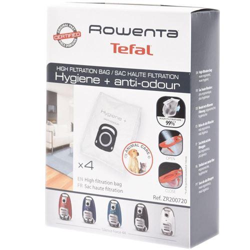 Boite de 4 sacs haute filtration Aspirateur ZR200720 ROWENTA - 310642