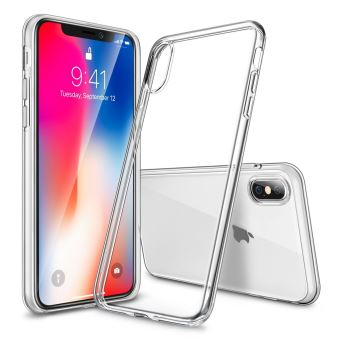 coque iphone x transparente ultra fine silicone