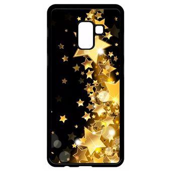 Coque Samsung Galaxy A8 Plus 2018 Modèle 2018 Étoile D'or Sur Fond Noir