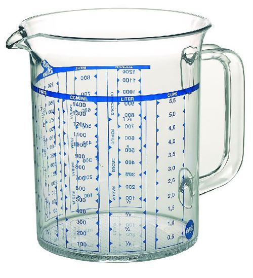 Emsa Superline pichet doseur 1,50L transparent