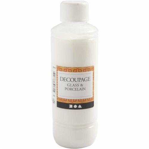 Creotime adhésif de découpage verre/laque de porcelaine 250 ml
