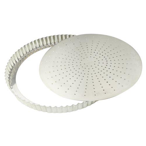 Gobel - moule à tarte cannelé fond perforé amovible 28 cm 126441