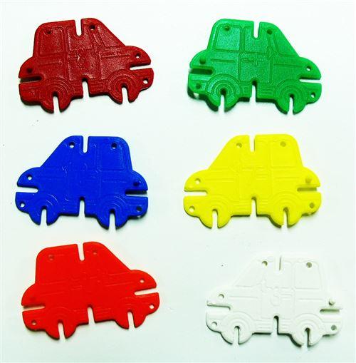 Clicauto bocal de 110 voitures plastique à assembler - oz international