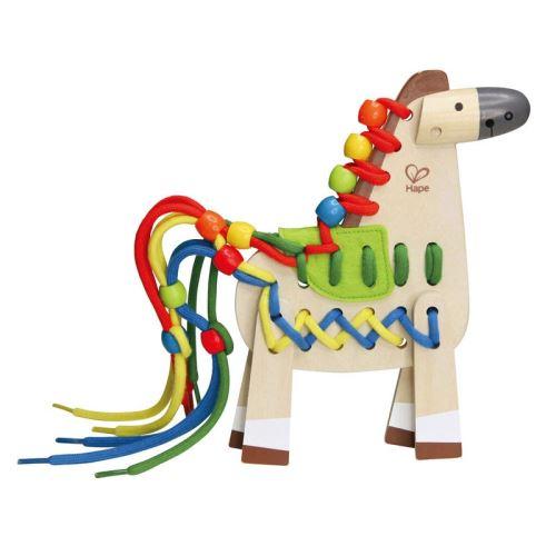 Hape cheval de bois 21 cm clair