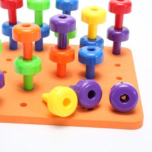 30PCS Conseil Peg Set Montessori Thérapie Toy motricité fine pour enfants en bas âge Pegboard Pealer410