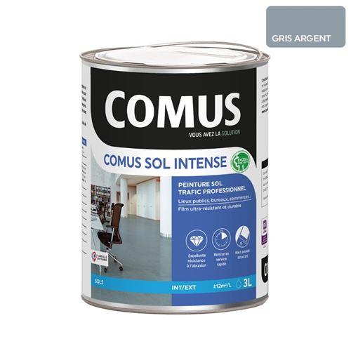 Comus Sol Intense Gris Argent 3l Peinture Sols Intérieurs Et Extérieurs, Trafic Intense/professionnel