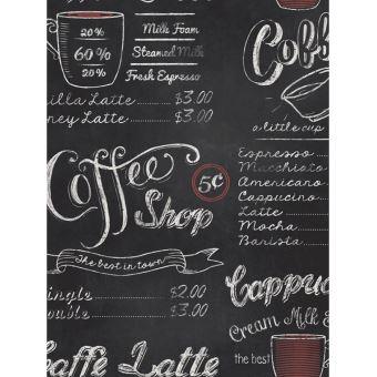 Papier Peint Tableau Noir tableau noir café papier peint rasch - décors et stickers - achat