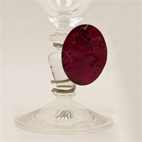 Lot de 6 Disques aspect coquillage coloris Bordeaux - Diam : 4 cm