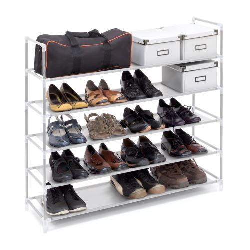 Étagère à chaussures - 20 paires de chaussures - Blanc