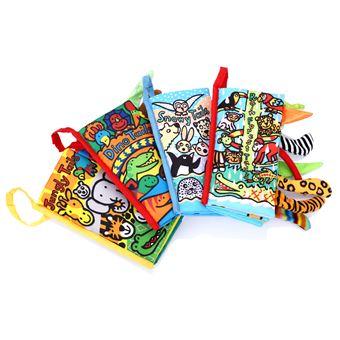 Quatre Livres De Tissu Enfant Educative Pour Bebe Jouet D Eveil