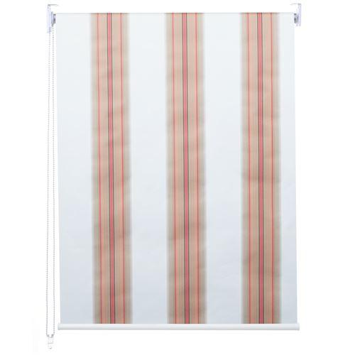 Store à enrouleur pour fenêtres, HWC-D52, avec chaîne, avec perçage, opaque, 80 x 160 ~ blanc/rouge/beige