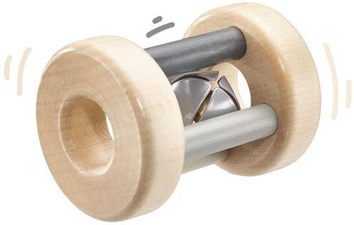 Selecta Spielzeug hochet garçons 7 cm bois naturel/gris