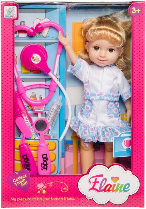 LG-Imports poupée adolescente docteur Elaine 35 cm bleu