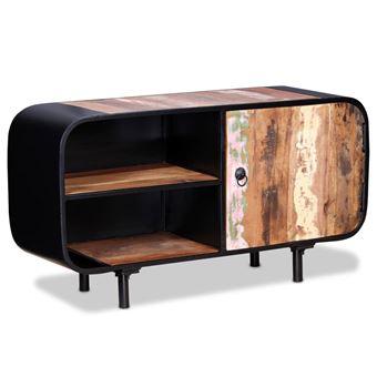 Vidaxl meuble tv bois de r cup ration 90x30x48 cm meuble pour t l vision achat prix fnac - Recuperation de meuble gratuit ...