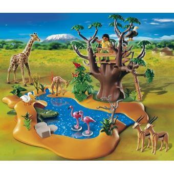 Playmobil le poste d 39 observation avec les animaux de la savane safari 4827 playmobil achat - Playmobile savane ...