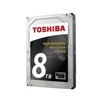 """Toshiba N300 - Vaste schijf - 8 TB - intern - 3.5"""" - SATA 6Gb/s - 7200 tpm -buffer: 128 MB"""