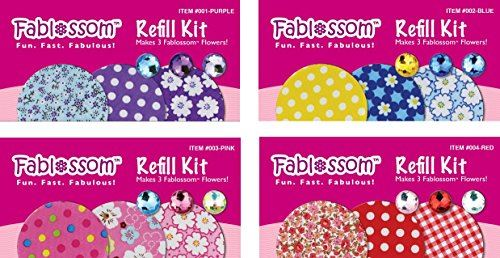Fablossom Kit de recharge en tissu Craft 4 Pack A - Donne 12 créations de tissu