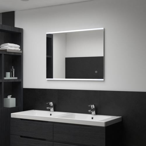 Miroir mural à LED de salle de bain et capteur tactile 80x60 cm (144733)
