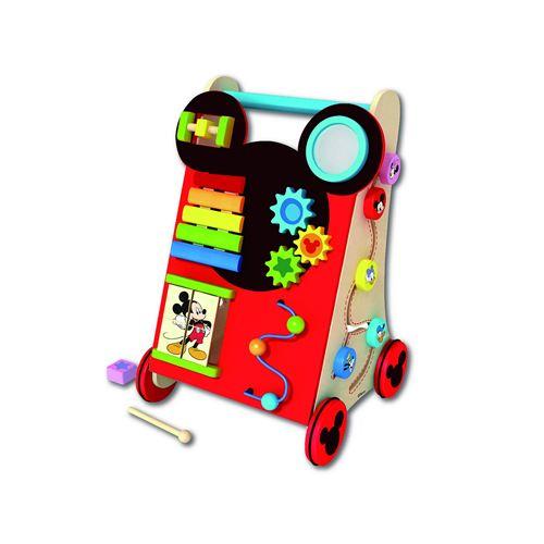 Disney Mickey Mouse Charriot d'activité en bois Multicolore - 32.5x34x50 cm