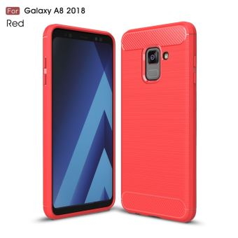 coque rouge samsung a8