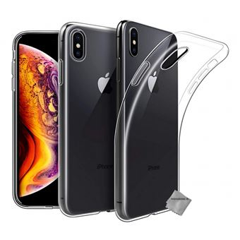 coque iphone xr transparente et verre trempe