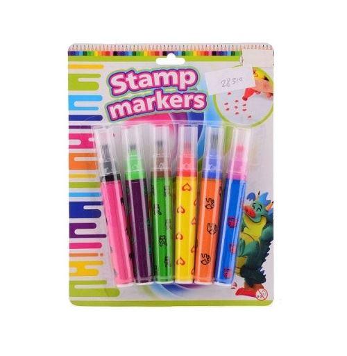 Johntoy timbres Crea Kids 6 pièces