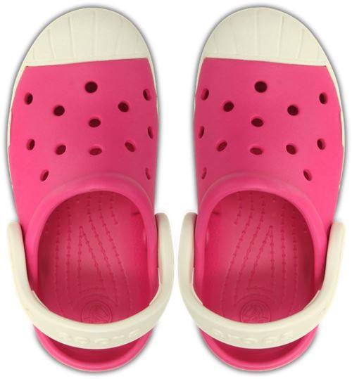 Crocs bump it clog kids sabots <strong>chaussures</strong> sandales en candy rose oyster blanc 202282 6mi