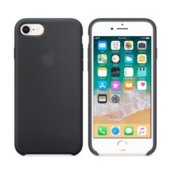 Coque en silicone Apple pour iPhone 7 Noir