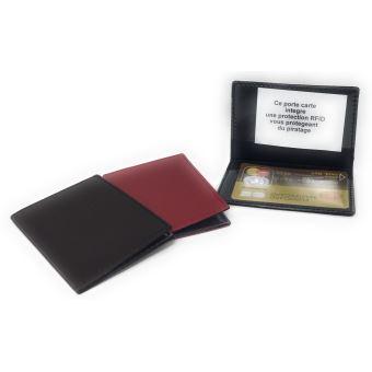 Kinsell Porte Carte étui En Cuir Synthétique Carte Bleu Carte De - Porte carte de visite cuir