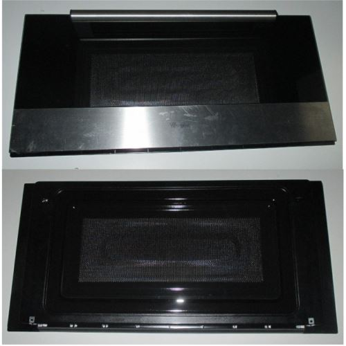 Porte complete inox pour micro ondes whirlpool