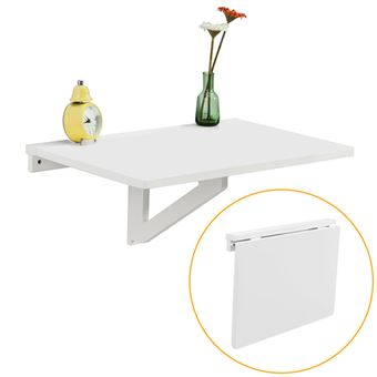 Sobuy Fwt03 W Table Murale Rabattable En Bois Table De Cuisine