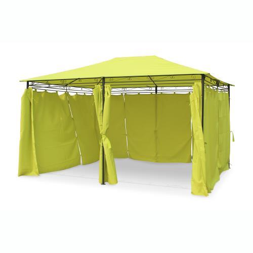 Tente de jardin pergola 3x4m Nicae toile vert pomme barnum ...