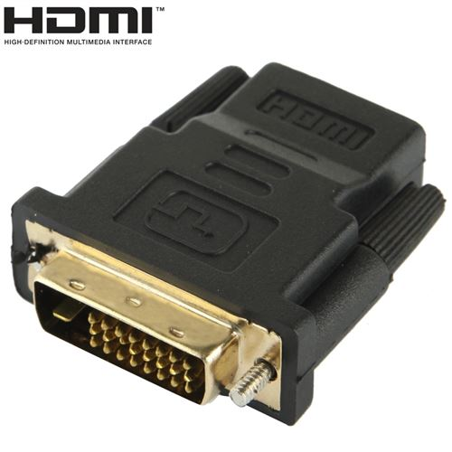 (#23) DVI-D 24+1 Pin Male to HDMI 19 Pin Female Adapter for Monitor / HDTV