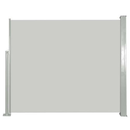 vidaXL Auvent latéral rétractable 120 x 300 cm Blanc cassé