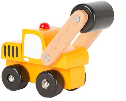 Small Foot chariots à roulettes jaune 12 x 6 cm