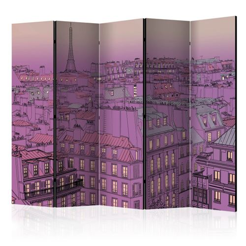 paravent 5 volets - friday evening in paris ii [room dividers] - artgeist - 225x172