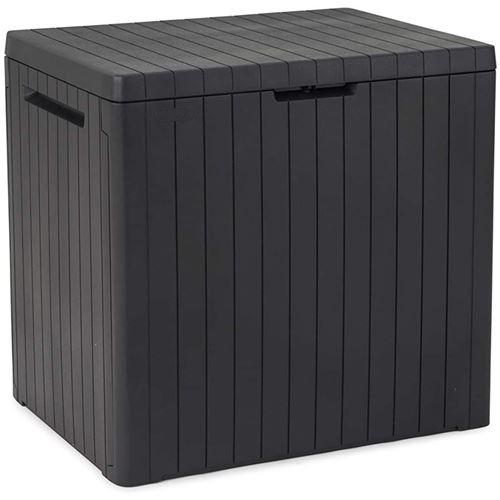 Coffre de rangement de jardin Keter résistante City Storage Box 113L Graphite