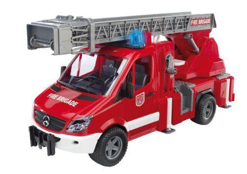 Bruder - Camion Pompier Mercedes - Citerne à Eau - Sons Et Lumières