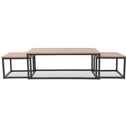 Vidaxl Table De Frêne Basse 3 Bois Pcs qSGjUVzLMp