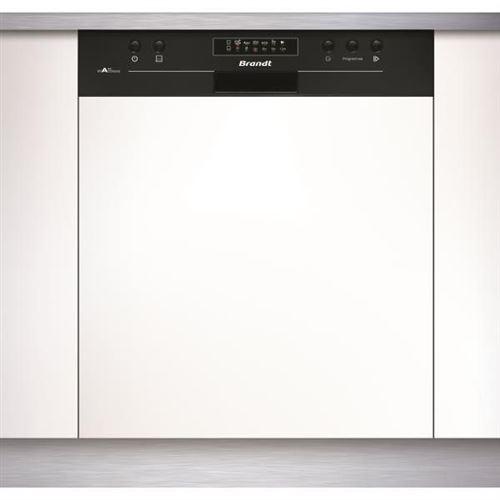 Brandt VH1704B - Lave-vaisselle - intégrable - largeur : 59.8 cm - profondeur : 57 cm - hauteur : 81.5 cm - noir