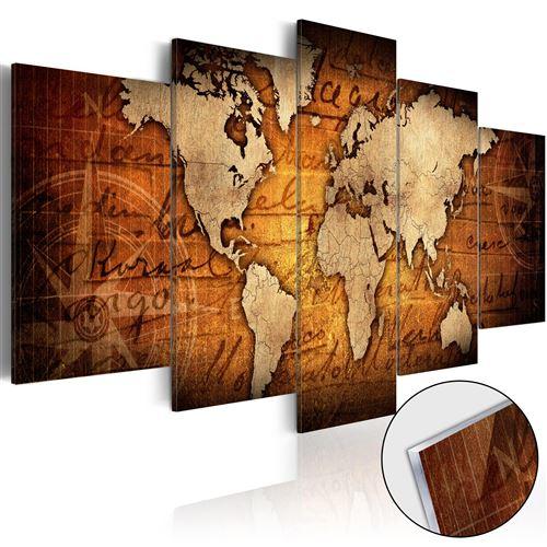 Tableau sur verre acrylique - Acrylic prints – Bronze map I -