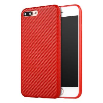 coque iphone 8 carbone rouge