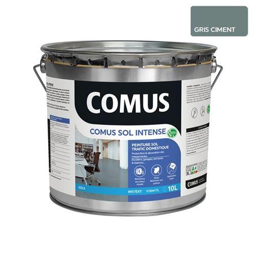 Comus Sol Intense Gris Ciment 10l Peinture Sols Intérieurs Et Extérieurs, Trafic Intense/professionnel