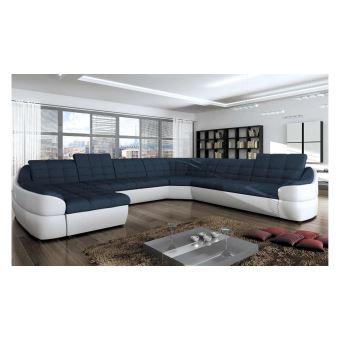 chaussures de séparation f99a7 b6211 JUSTyou INFINITY XL Canapé panoramique Blanc Bleu - Achat ...