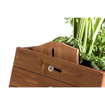 Jardiniere Pour Balcon Hors Sol Surelevee Cube 2 Bois De Sapin