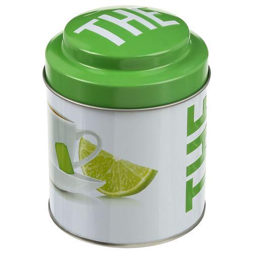 B&W - Boîte à thé Ronde Relief - Métal